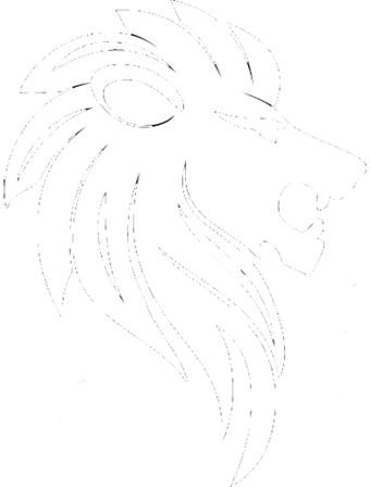 Logan Lion Logo White